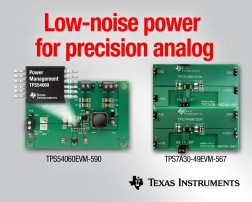 TI Power Development Kits for Precision Analog to Minimize Noise