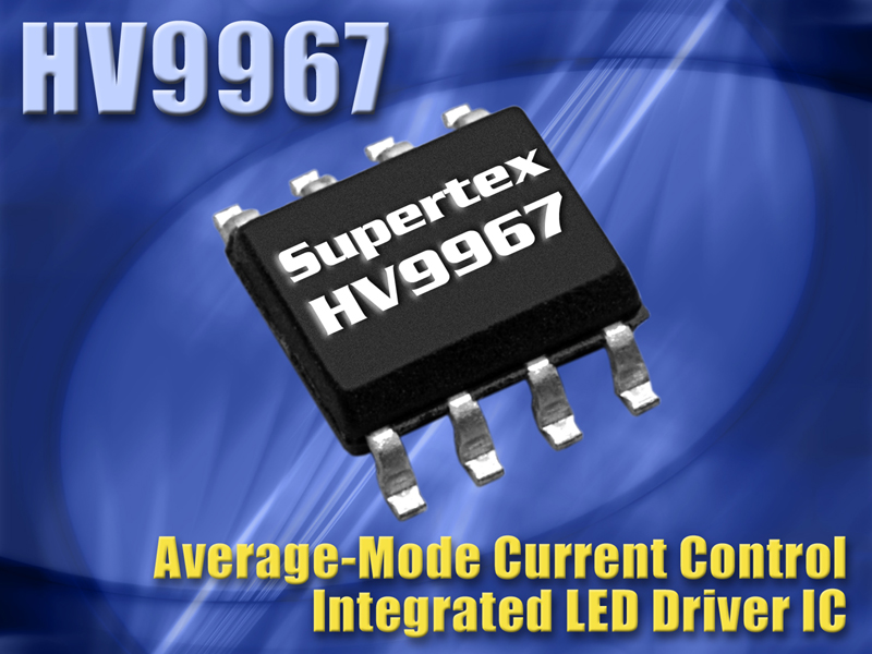 Supertex LED Driver Delivers Superior Current Accuracy with Integrated MOSFET