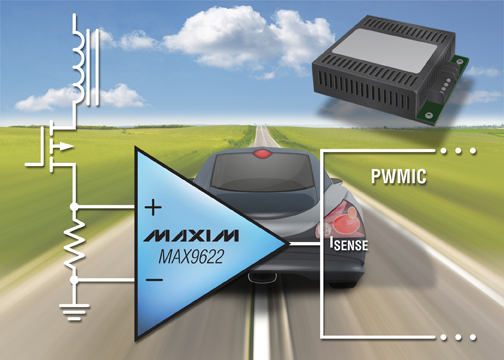 Maxim's New Op Amp Enables Designers to Downsize Sense Resistor to Improve Power Efficiency