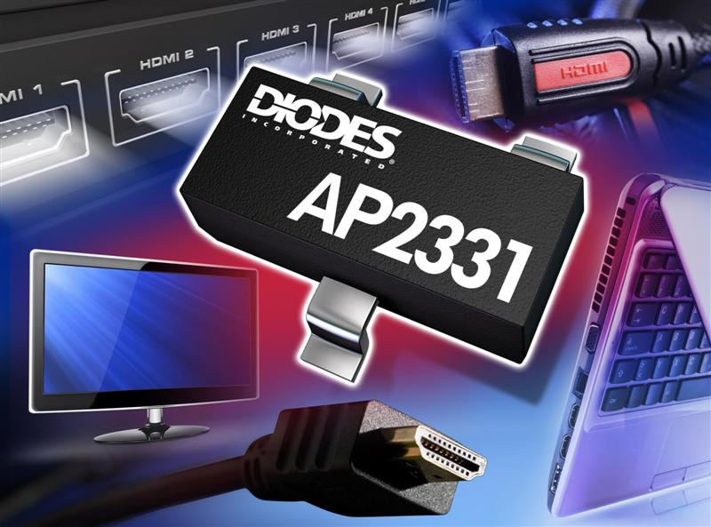 Load Switch from Diodes Incorporated Raises HDMI Port Protection