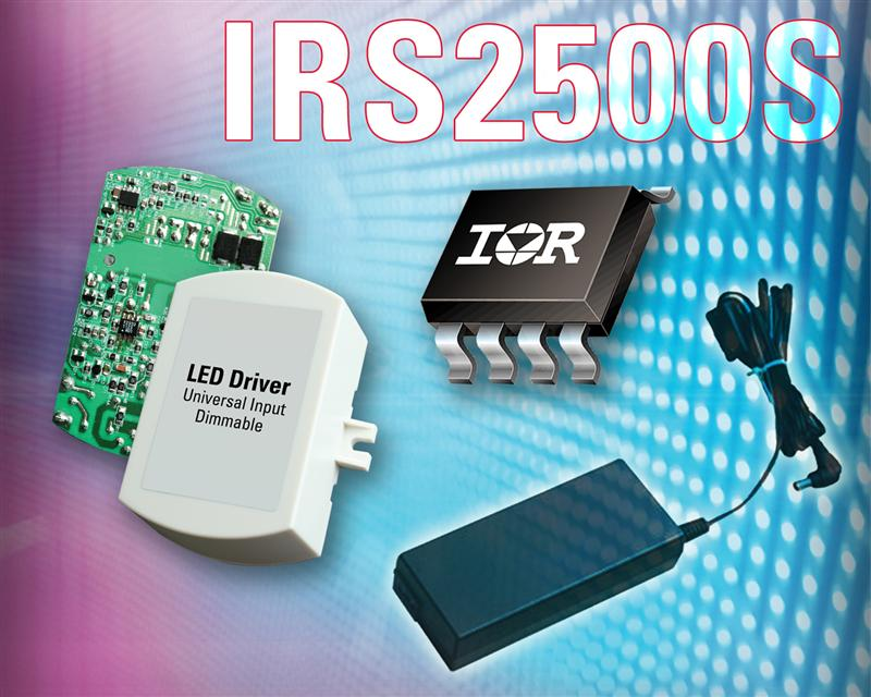 IR's IRS2500 μPFC™ Control IC Reduces Noise Sensitivity for Cost- Sensitive Electronic Ballast and SMPS Applications