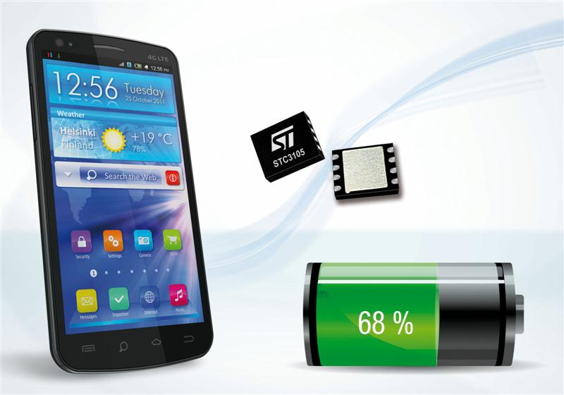 Batteries in Handhelds Will Run and Last Longer with New Monitoring Device from STMicroelectronics