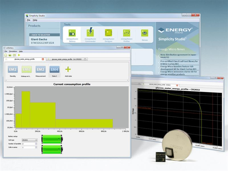 Energy Micro software tool takes the guesswork out of battery life predictions