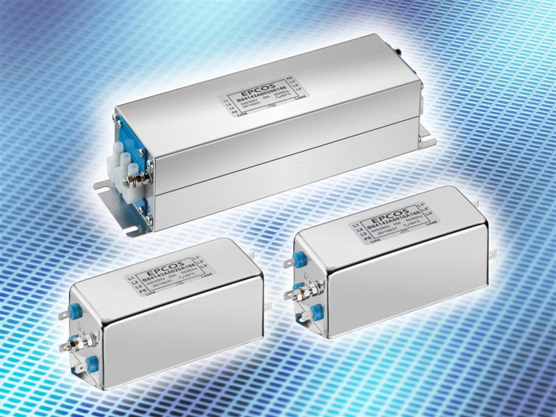 EMC filters: Cost-effective 3-line filters for frequency converters