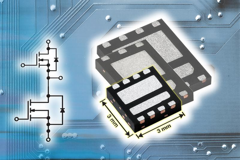 Vishay Siliconix PowerPAIR Dual Asymmetric Power MOSFET Family Expands to Three Size Options, Including 3 mm x 3 mm