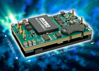 Quarter-brick converter delivers up to 400 W for telecom applications