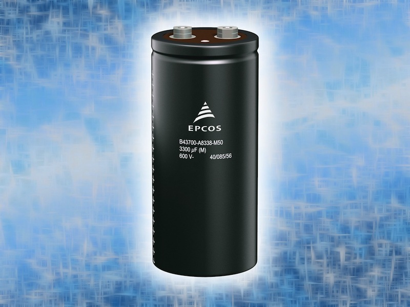 Aluminum electrolytic capacitors offer higher voltages for industrial apps