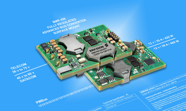 Ericsson saves board space with surface-mount bus converter