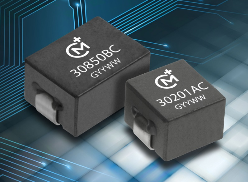 Low-profile SMT power inductors suit high-frequency switching apps