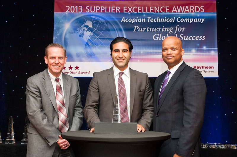 Acopian receives Raytheon's Three Star Supplier Excellence Award