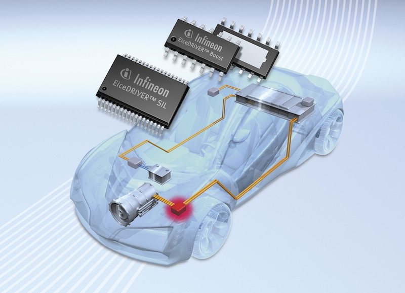 Infineon builds portfolio of ICs for hybrid/electric vehicle power
