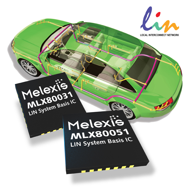 Melexis enhanced LIN communication devices have integrated voltage regulation & watchdog functionality