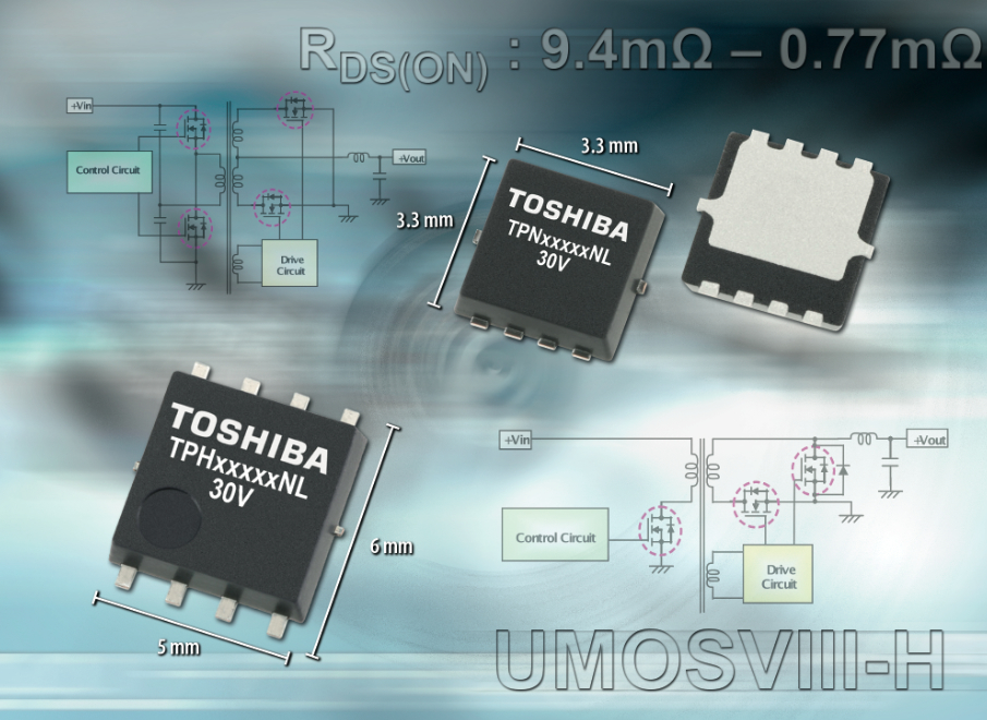 Miniature 30V MOSFETs boast industry-leading RDS(ON)