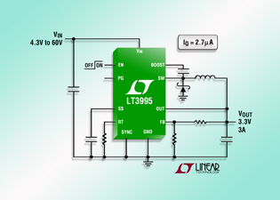 Step-down converter touts very low quiescent current
