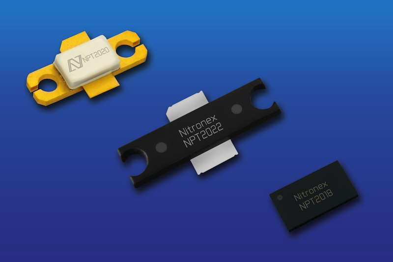 Nitronex GaN-on-Silicon discrete HEMT devices handle up to 100 Watts