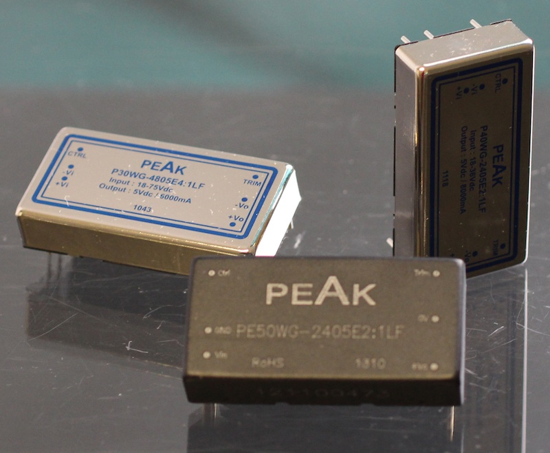 PEAK electronics expands mini converter series with 30W, 40W, and 50W models