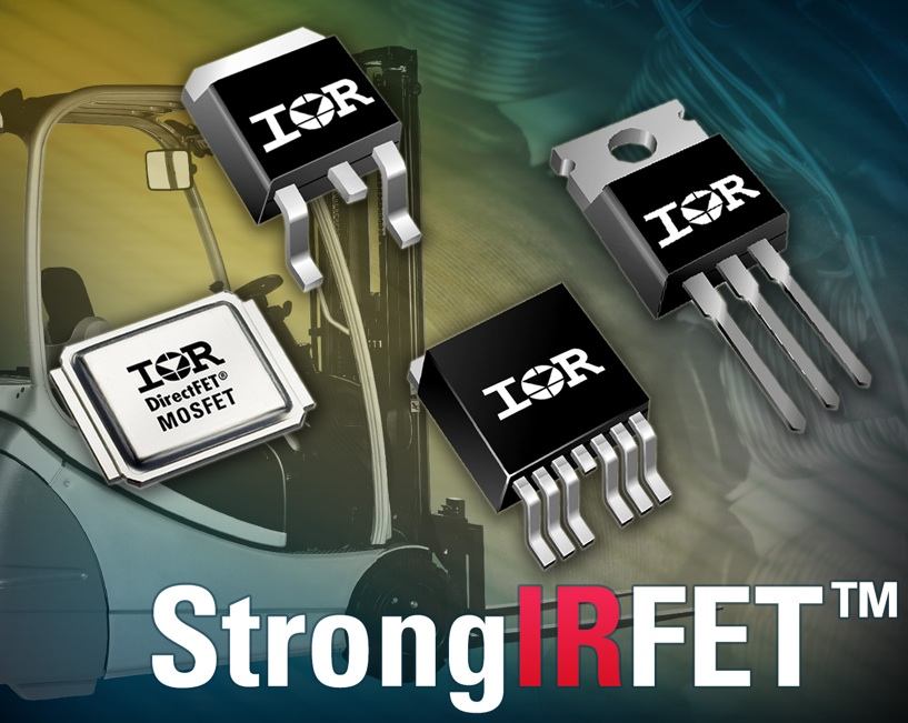 RS Components now offers StrongIRFET power MOSFETs for industrial applications