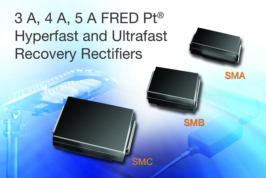 Vishay FRED recovery rectifiers reduce losses in consumer products and electronic ballasts