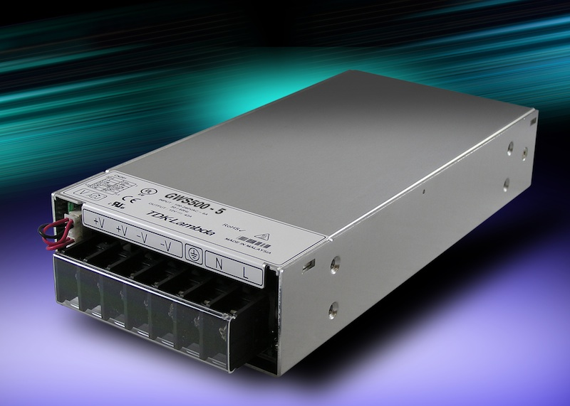 TDK-Lambda GWS500 power supply family expands with two low output voltage models