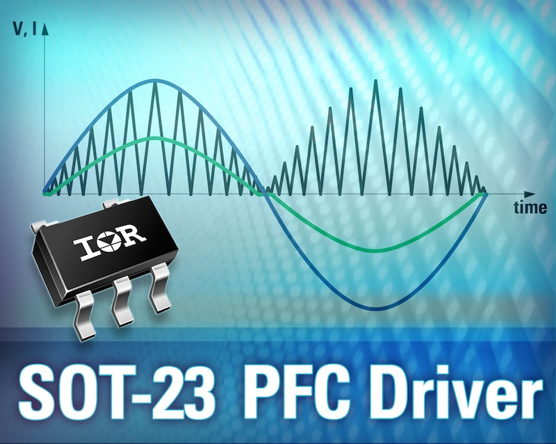 IR Introduces smallest claimed PFC boost IC in a 5-pin SOT-23 package
