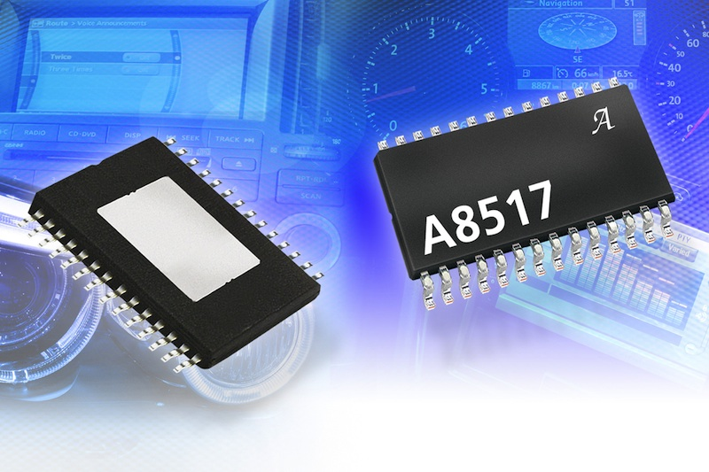 Allegro MicroSystems' multiple-output automotive LED driver IC includes I²C interface