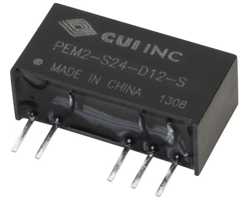 CUI high-isolation DC/DC converters have 105°C operating temp for challenging apps