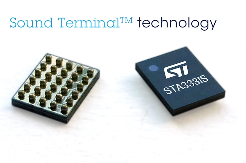 STMicro's digital audio SoC packs 2x20W in a tiny footprint