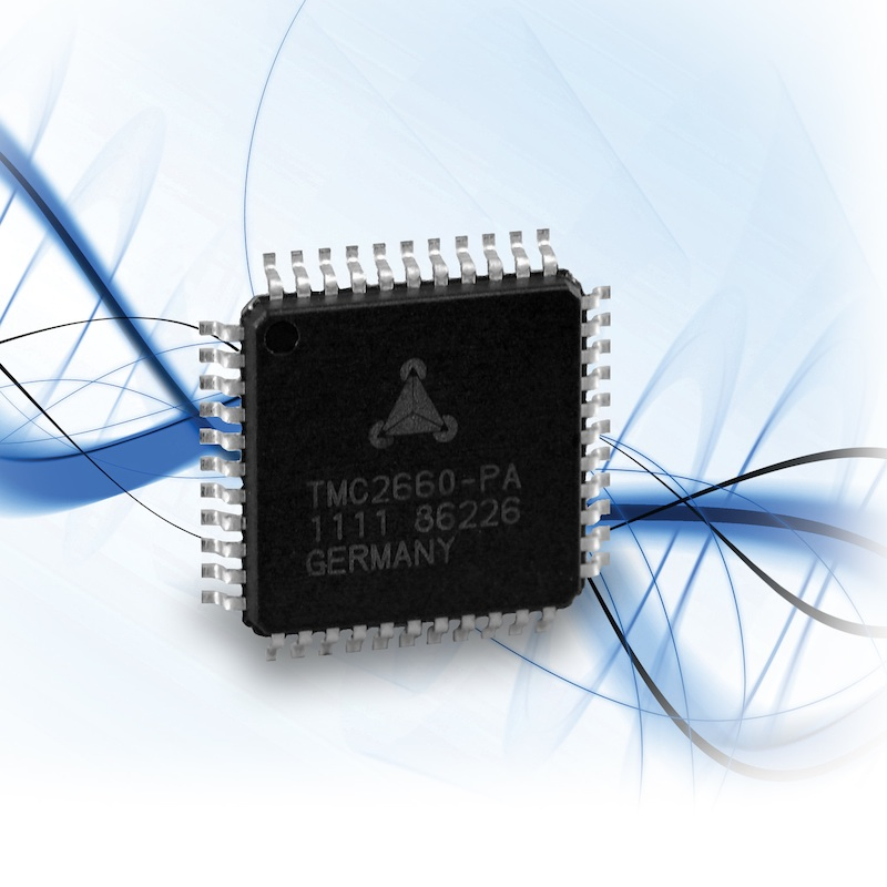 TRINAMIC expands stepper motor driver line with 4A device, promises lowest power dissipation