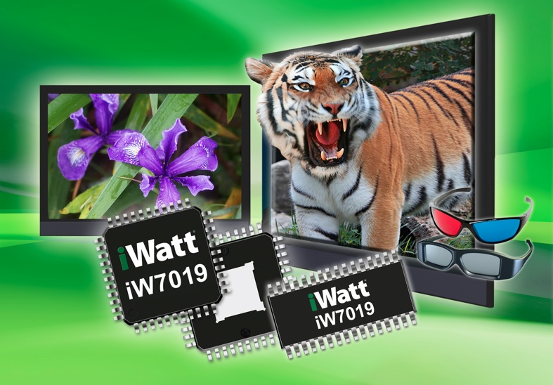 iWatt's iW7019 8-channel LED backlight driver serves next-generation TVs.