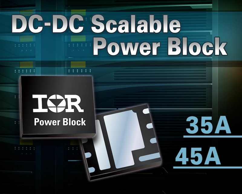 IR's power blocks deliver industry-leading power density to DC/DC synchronous buck apps