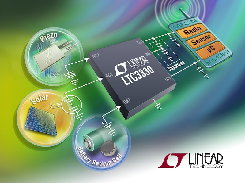 Linear unveils Nanopower buck-boost converter with energy-harvesting battery life extender