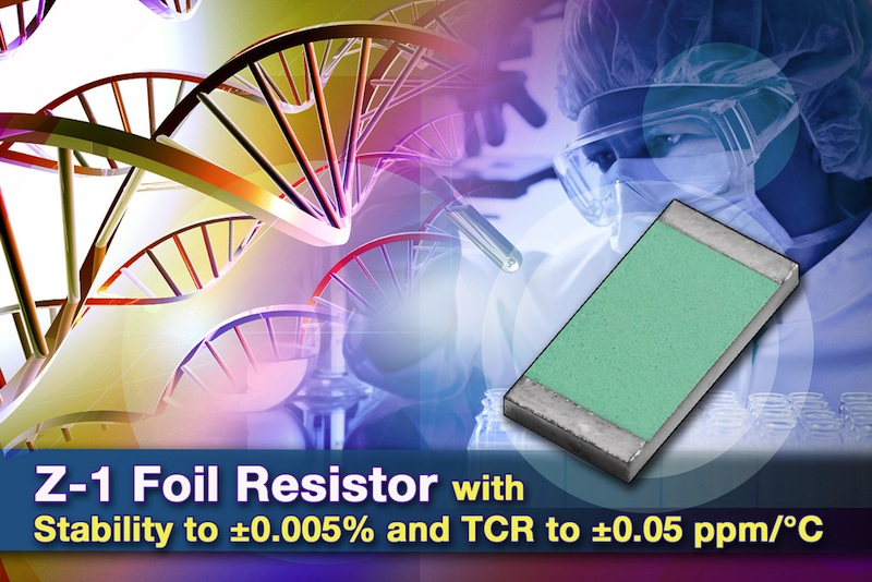 VPG flip-chip 0805 resistor based on Z1 foil technology provides high stability