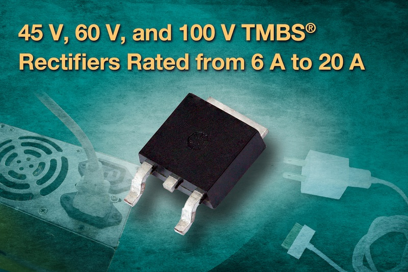 Vishay Intertechnology's TMBS rectifiers cut losses, increase efficiency in commercial applications