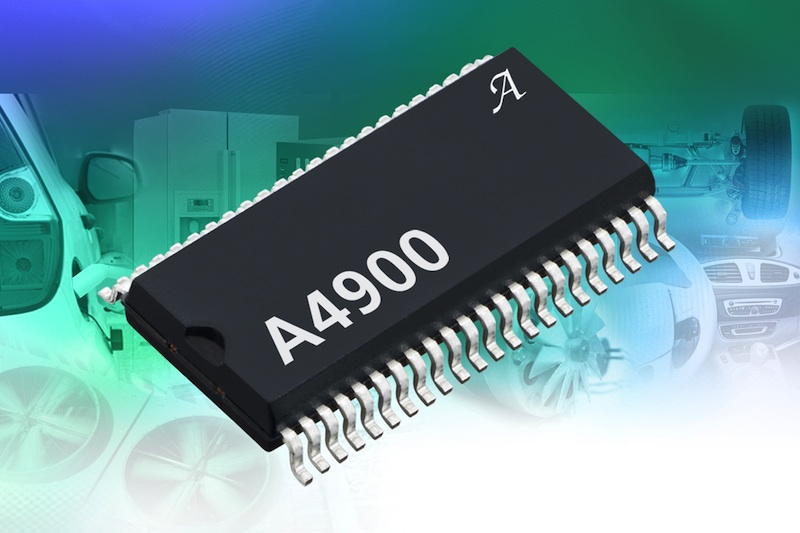 High-voltage brushless DC motor driver IC serves hybrid and electric vehicles and other 48V battery systems
