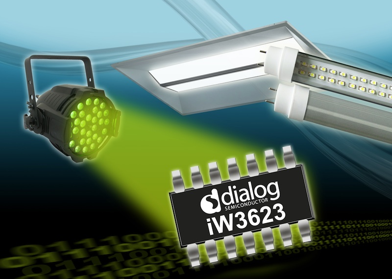 Dialog's 45W SSL LED driver enables flicker-free commercial lighting
