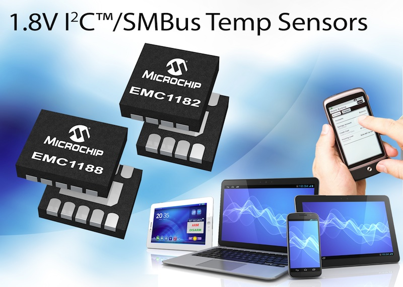 Microchip claims first temperature sensor family with 1.8V SMBus and I2C capability