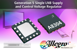 Single LNB regulator IC offers higher switching frequency and lower supply current in satellite receiver applications