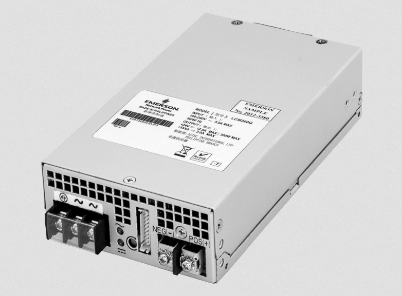 Emerson's cost-competitive 300W single-output AC/DC supply serves industrial and medical apps
