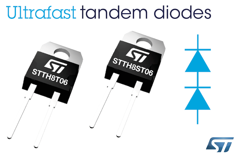 STMicro's improved tandem diodes deliver an economical alternative to SiC devices