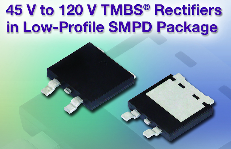 Vishay releases Low-Profile SMPD TMBS rectifiers for commercial applications
