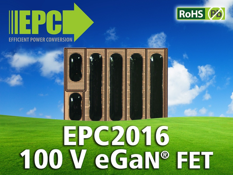 EPC expands eGaN FET family with 100V 16mOhm power transistor