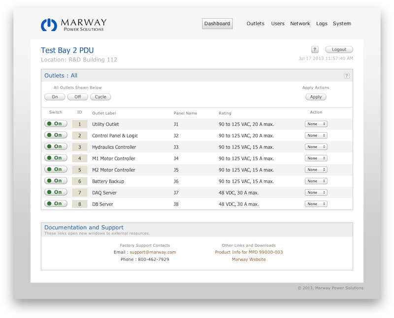 Marway enables ethernet-based switching of PDU outlets with new RCM software