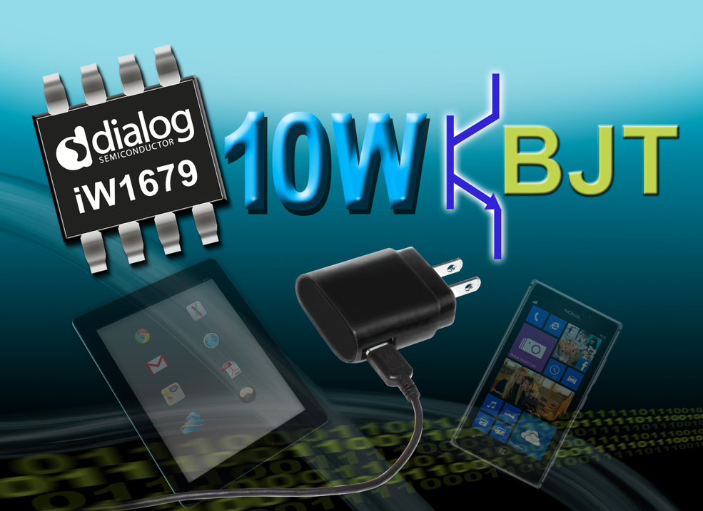 Dialog's PWM controller IC lowers cost as well as standby power in smartphone supplies