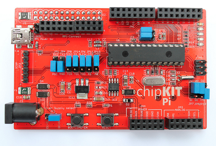 Microchip and element14 announce Raspberry Pi chipKIT expansion board with prototyping-friendly 32-bit MCU package