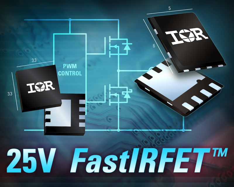 IR's FastIRFETs boast industry-leading efficiency in DC/DC synchronous buck apps
