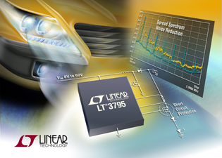 LED controller offers spread-spectrum frequency modulation & robust short-circuit protection