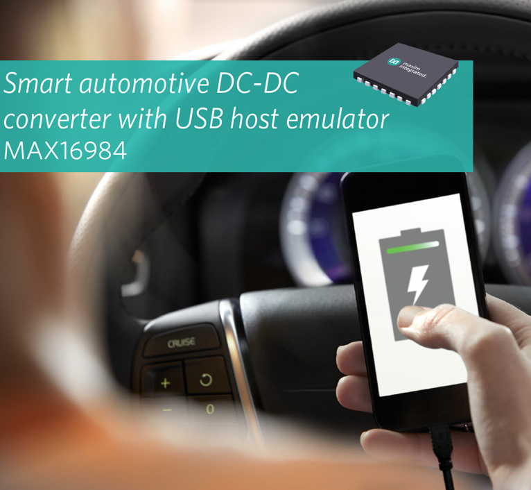 Quickly and reliably charge portable device in a car over USB with a single IC from Maxim