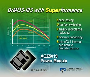 Alpha and Omega Semiconductor claims best-In-class DrMOS-IIIS power modules