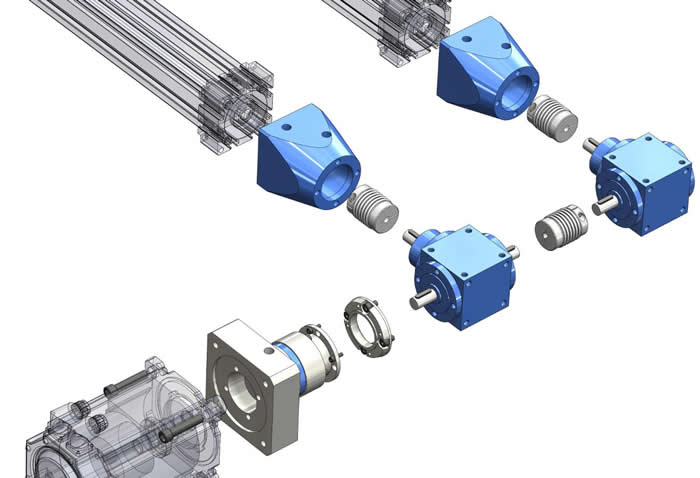 GAM creates a complete gearbox and coupling assembly for customer's actuator system