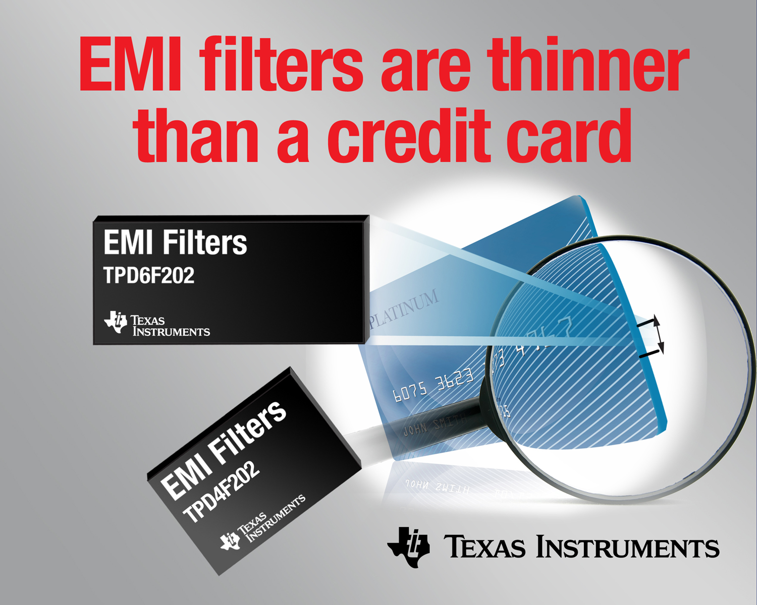 Texas Instruments Delivers Thinnest EMI Filters with Highest ESD Performance